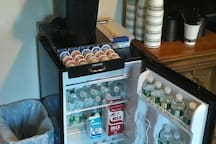 Coffee Station & Mini Fridge