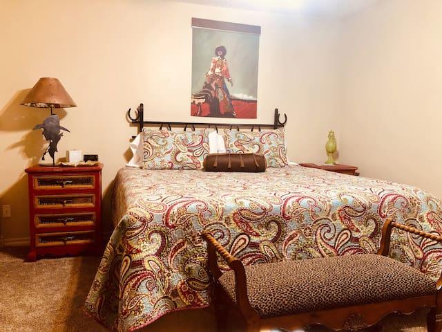 King Size master bedroom suite.