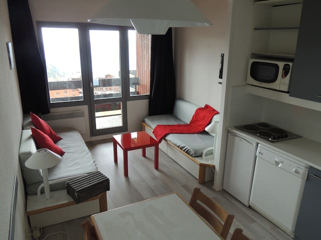 2 bedrooms, renovated, skis to feet - Mâcot-la-Plagne - Departamento