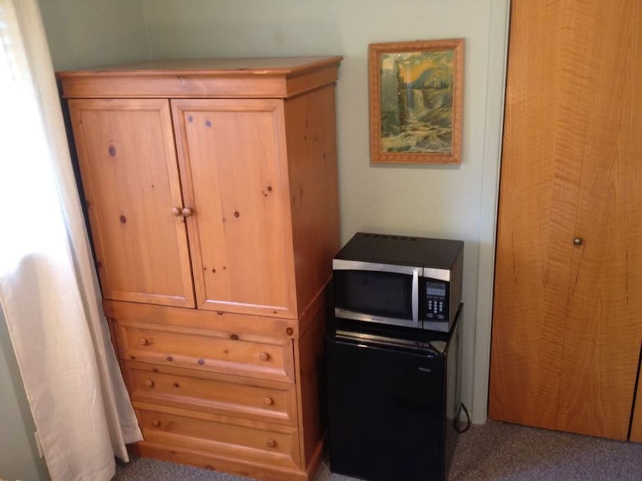 Microwave and Fridge are available upon request (some guests don't want them)