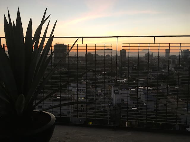 Amazing view/private bath&terrace/Condesa - Cidade do México - Apartamento