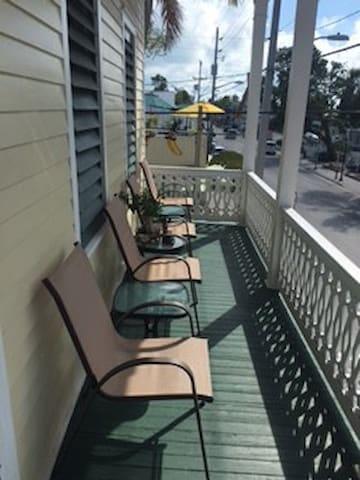 Balcony overlooking Duval Street