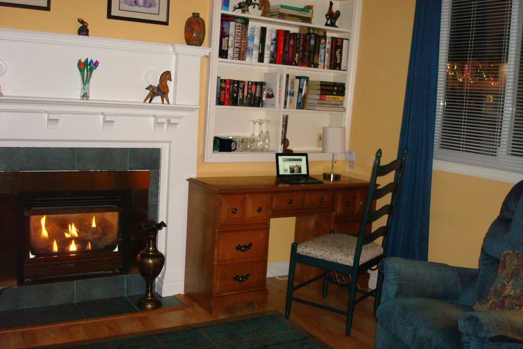 Enjoy the convenience of wifi at small bedsitting room workspace