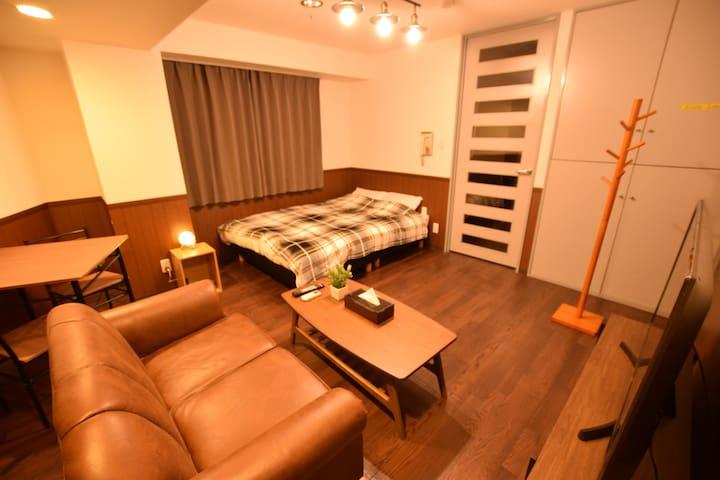 Ueno✦Asakusa area/ 40mins to Narita:Double Room