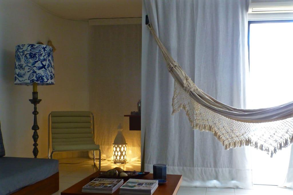 Sala -rede / Living room - hammock