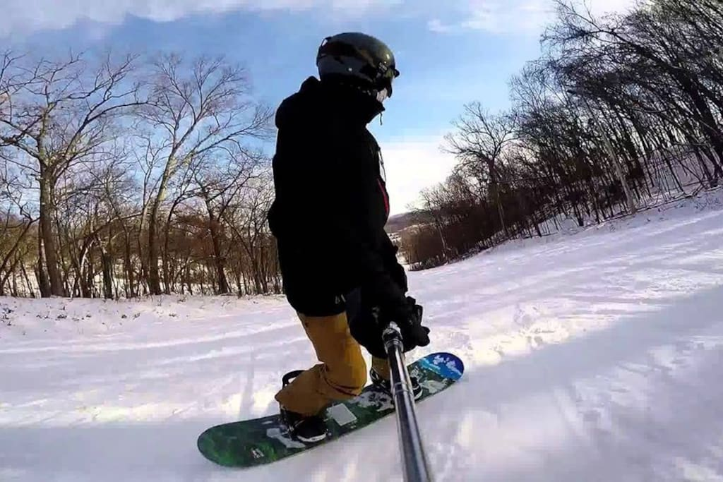 Snowboarding at Devils Head - 7 miles away!