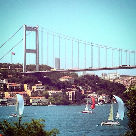 Amazing bosphorus view, cosy flat
