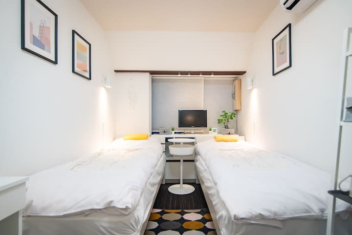 Shinjuku Simple Private 2 Beds Room/Free WiFi