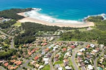 Arial view of Diggers Beach
