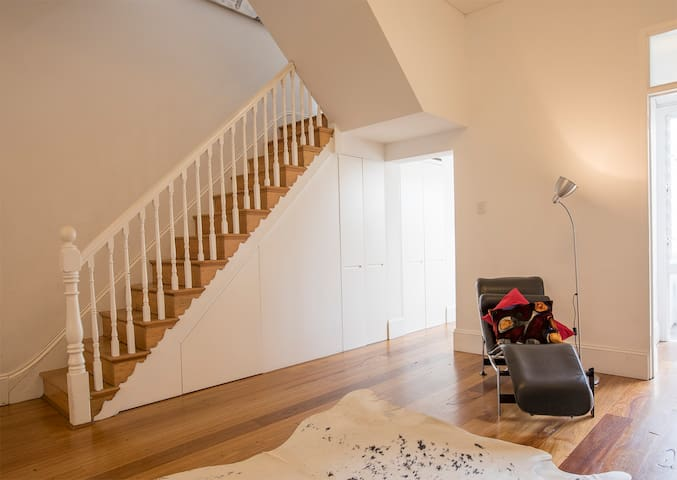 Your bedroom is up these stairs