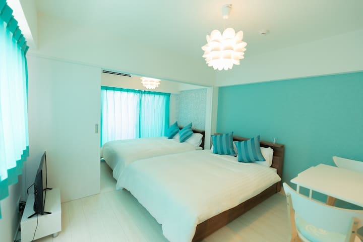 Free WiFi☆Central of Hakata2☆Cozy&Clean Room!