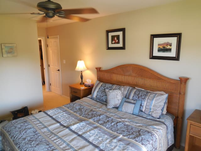 Upstairs, Master Bedroom with King bed