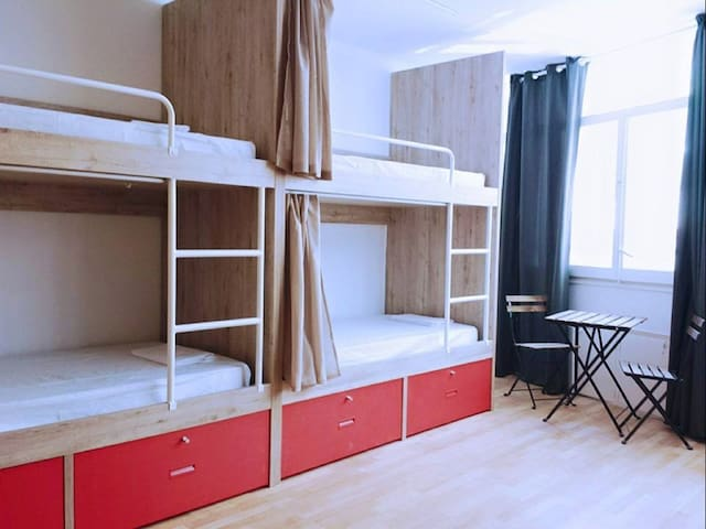 Bed in a 4 or 8 Bed Female-only Dormitory