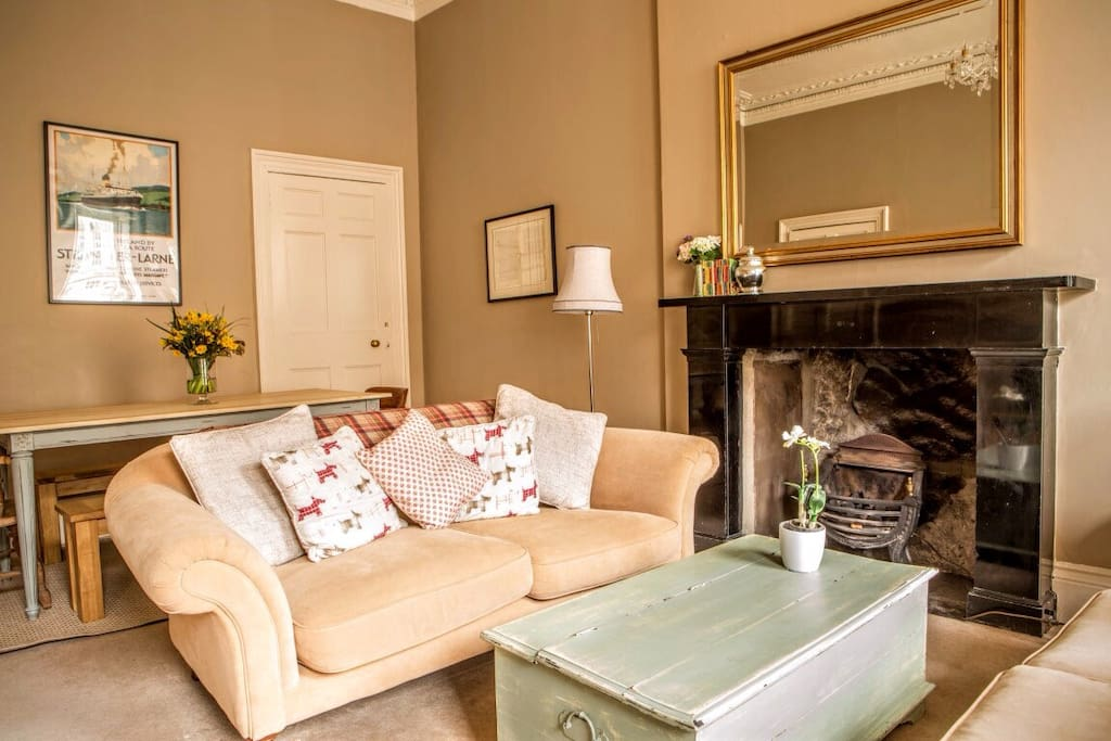 Our cosy sitting room with large dining table