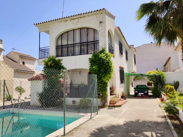Villa with 3 bedrooms in Pego, with wonderful sea view, private pool and enclosed garden - 8 km from the beach