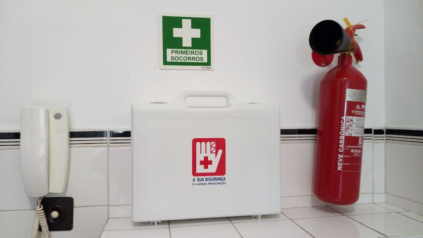 For your safety, and first aid