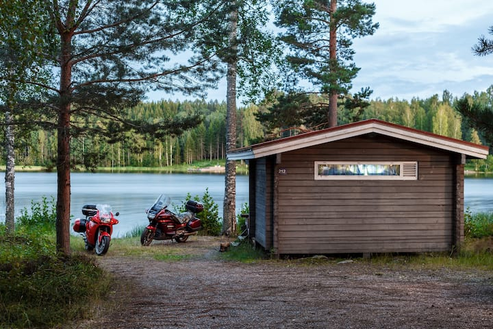 Four-bed camping summer house, lake view