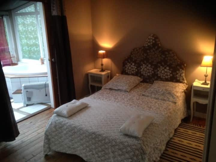 jolie chambre avec SDB privative + petit déj'