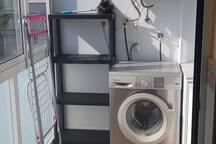 Zona lavandería,lavadora gratuita