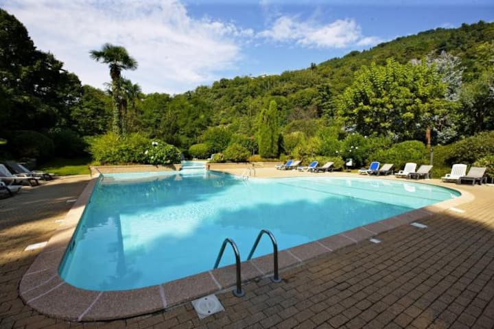 St  Maurice smile apartment with pool, beach and lake view