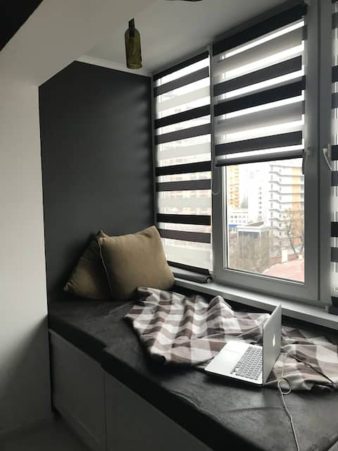New art apartment with best panoramic view in Kiev