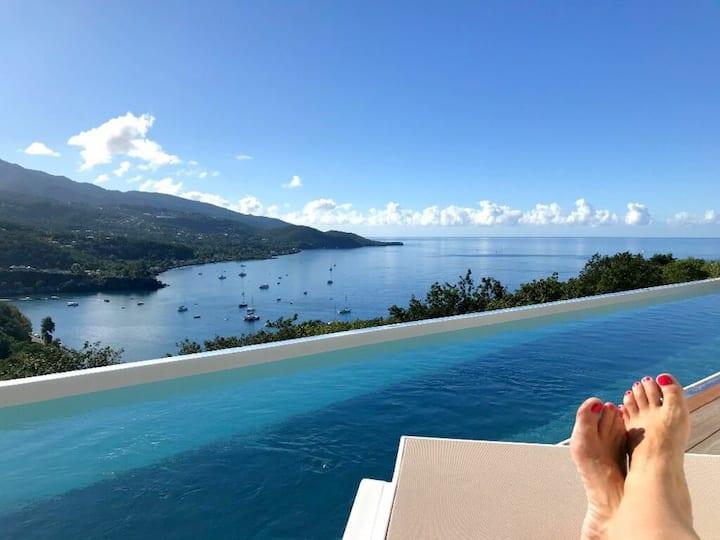 Villa de standing avec vue mer et piscine privée