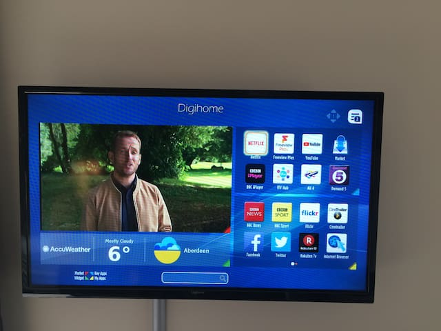 All rooms are fitted wit a smart tv.