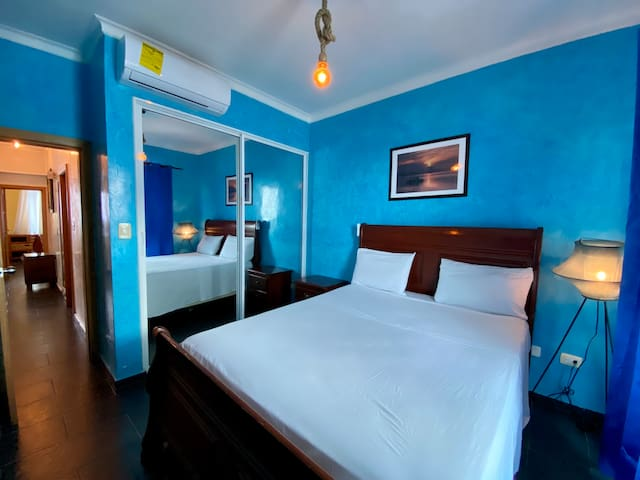 2nd Bedroom   AC & Wi-fi available.  With Balcony