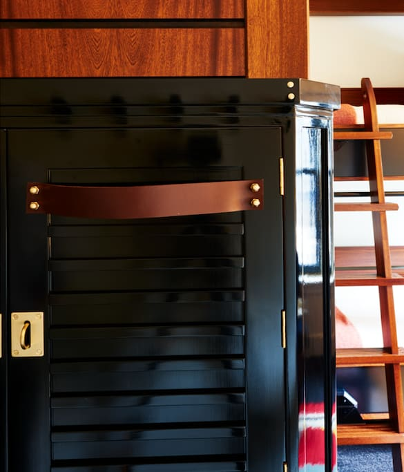 Quadruple rooms feature lockers for storage of valuables and personal belongings