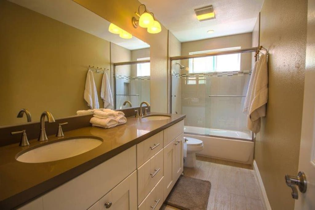 Clean spacious bathrooms throughout.