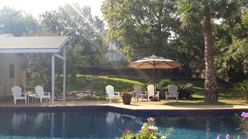 Relax at Hill Country Oasis with Large Pool