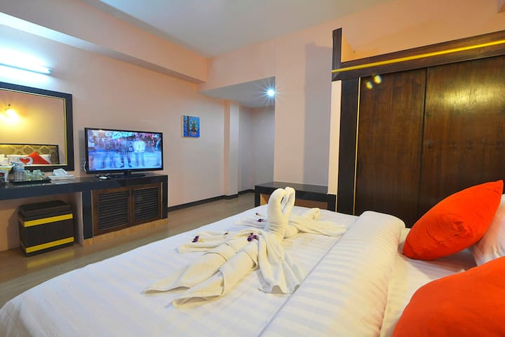 krabi city view double bed small - Tambon Pak Nam - Apartment