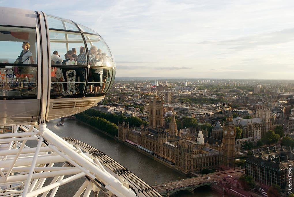 View from the London Eye (5 mins from the house)