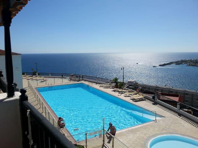 Bungalow, pool, fantastic view - Patalavaca