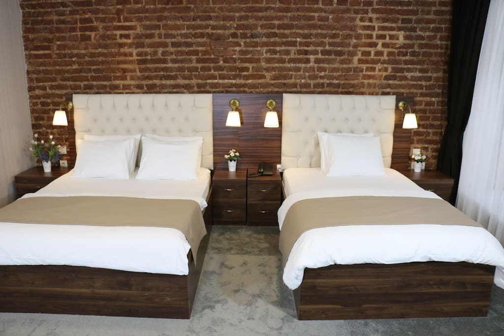2+1 Bed for Families or closer friends&Couples With Modern Red Brick Design in Historical Building