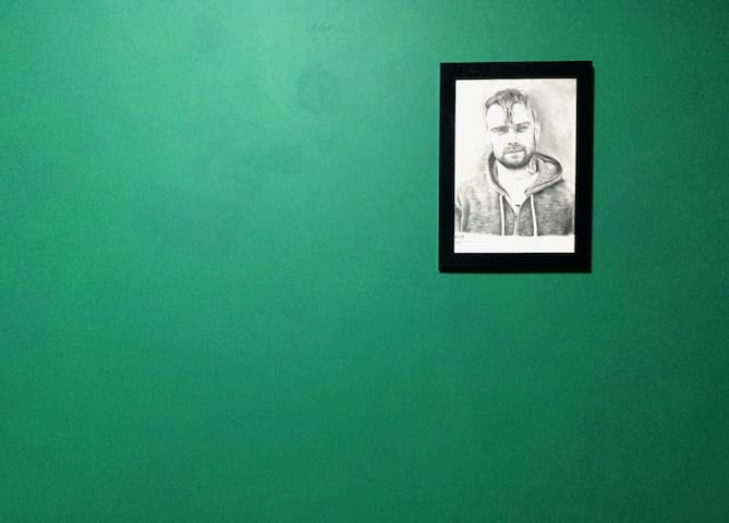 Bert McCracken from The Used. Drawn by a friend.