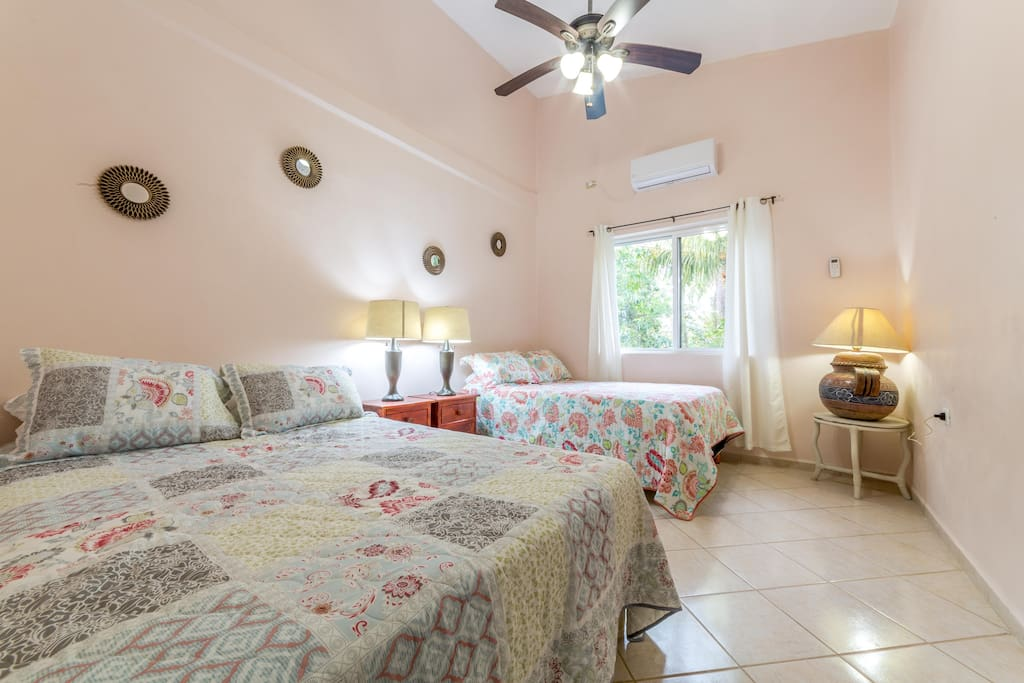 2nd Bedroom w/2 Queen Size Beds, AC, Fan