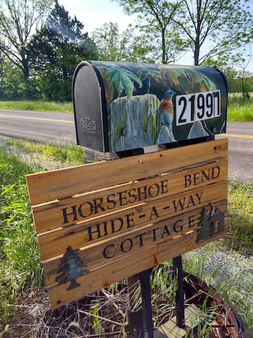 Turn in at our mailbox sign!