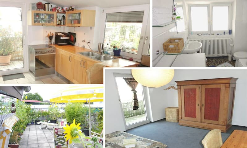 Room with RoofGarden near Station, Breakfast incl.