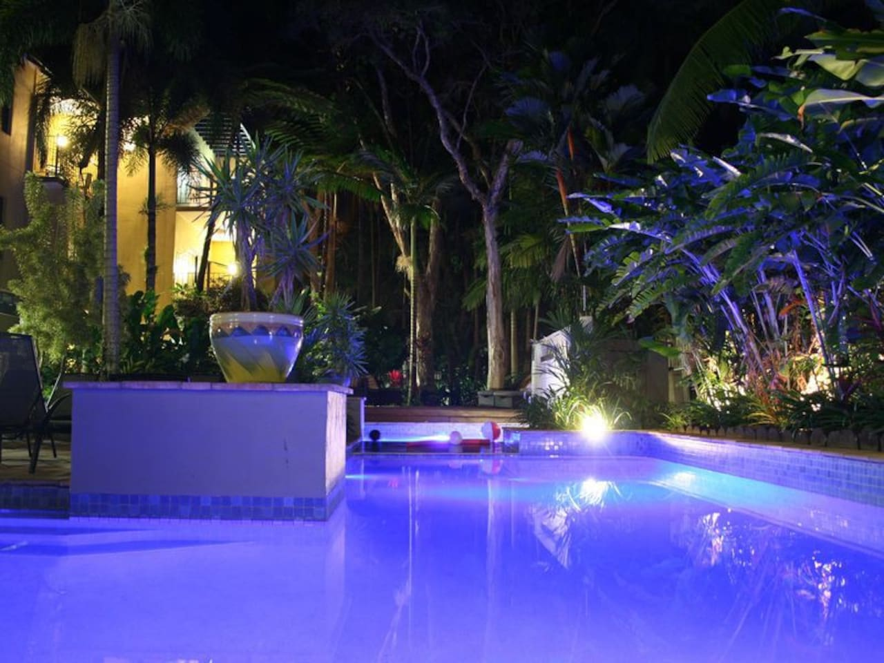 night lights our lovely heated pool and spa to the season come visit our Paradise