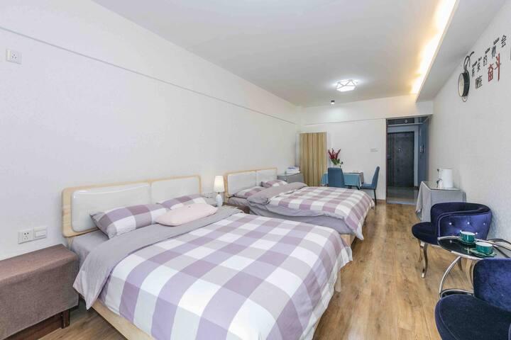 三坊七巷、妇幼医院简约风格两个大床房