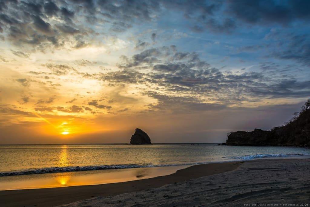 Playa Rajada, a solo 19min de Casa del Viento