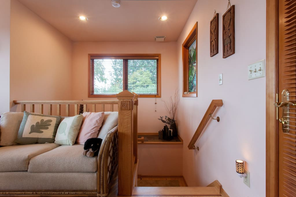 Stairway access to bedroom