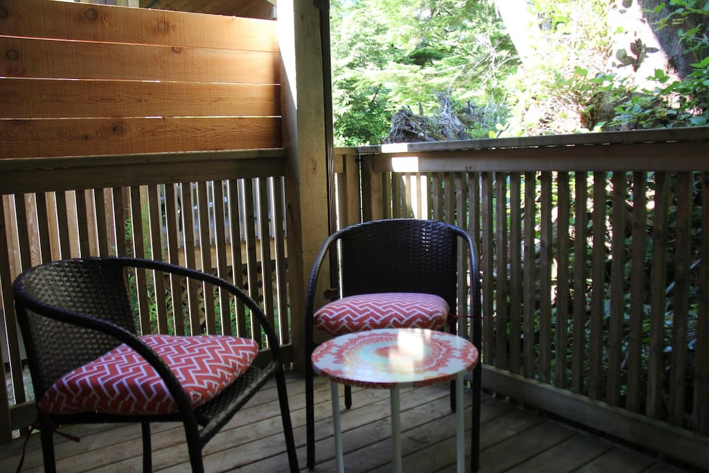 Rear porch & deck chairs