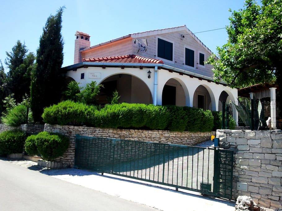 Villa Nika from the road