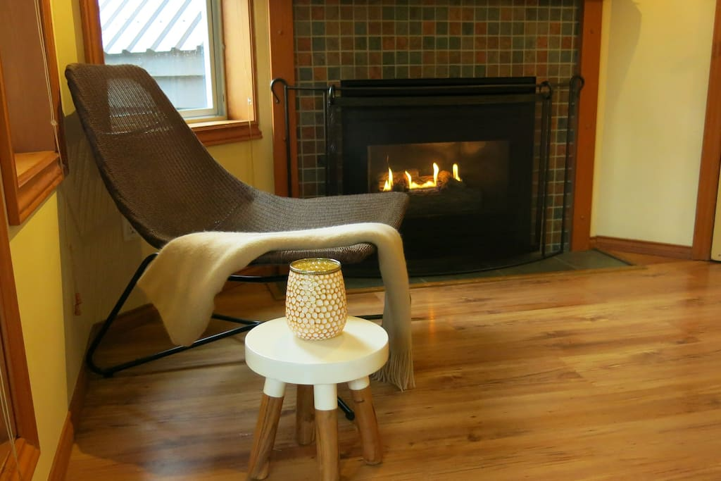 Chill out by the gas fireplace!