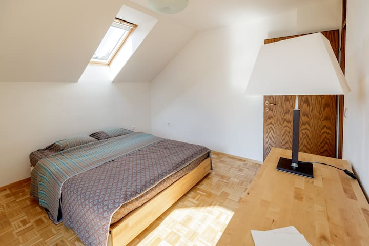 First bedroom, with king size bed.