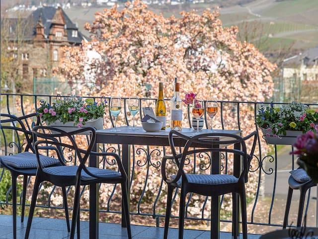 Winery Mosel luxury design wine Riesling vineyards