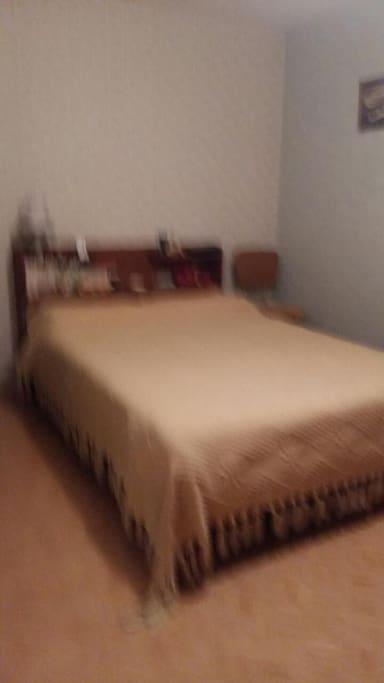 Grande chambre avec un lit cocon