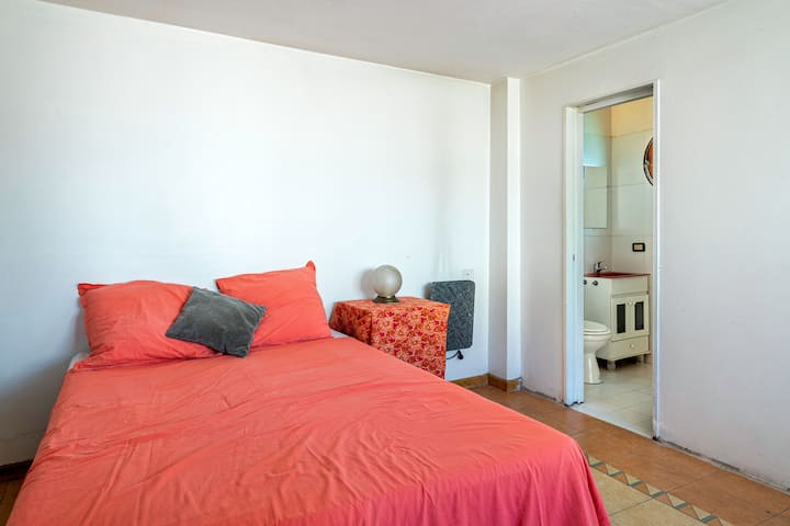 Big bright room w/private bathroom and terrace